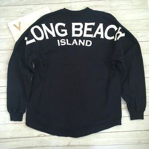 long beach island womens xs spirit jersey navy tee